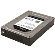 StarTech.com® Internal Dual-Bay SATA Hard Drive Adapter Enclosure, Silver/Black (35SAT225S3R)
