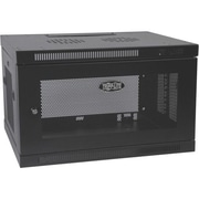 Tripp Lite SmartRack 6U Low-Profile Switch-Depth-Plus Wall Mount Rack Enclosure Cabinet, Black (SRW6UDP)