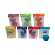 American Maid Plastic 8 Piece Cereal Storage Set; Pink