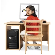 Young Time Oak 29'' Student Computer Desk