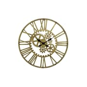 Cole & Grey Oversized Metal Gear 17'' Wall Clock; Gold