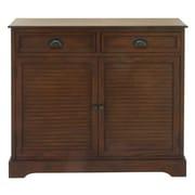 Cole & Grey 2 Door 2 Drawer Wood Accent Cabinet; Brown