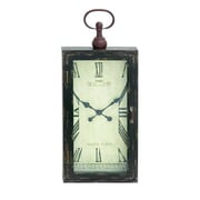 Cole & Grey Wood Metal Wall Clock; 28'' H x 12'' W x 3'' D