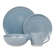 Canvas Home Shell Bisque 4 Piece Place Setting; Blue