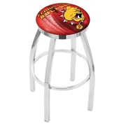Holland Bar Stool NCAA 30 inch Swivel Bar Stool w/ Cushion; Ferris State Bulldogs