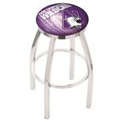 Holland Bar Stool NCAA 25'' Swivel Bar Stool w/ Cushion; Northwestern Wildcats