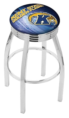 Holland Bar Stool NCAA 25'' Swivel Bar Stool w/ Cushion; Kent State Golden Flashes WYF078279778062