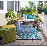 Fab Rugs World Samarkand Indoor/Outdoor Blue Rug; 4' x 6'