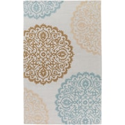 Artistic Weavers Venus Brooklyn Hand Tufted Ivory/Blue Area Rug; 4' x 6'