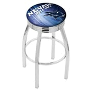 Holland Bar Stool NCAA 25'' Swivel Bar Stool w/ Cushion; Nevada Wolf Pack