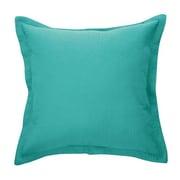 Brunelli Bungalow Microfiber Throw Pillow; Turquoise