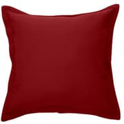 Brunelli Bungalow Microfiber Throw Pillow; Red