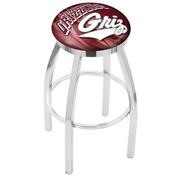 Holland Bar Stool NCAA 25'' Swivel Bar Stool w/ Cushion; Montana Grizzlies