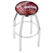 Holland Bar Stool NCAA 25 inch Swivel Bar Stool w/ Cushion; Mississippi State Bulldogs