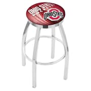 Holland Bar Stool NCAA 30'' Swivel Bar Stool w/ Cushion; Ohio State Buckeyes