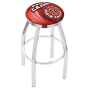 Holland Bar Stool NCAA 30'' Swivel Bar Stool w/ Cushion; Louisiana-Lafayette Ragin' Cajuns