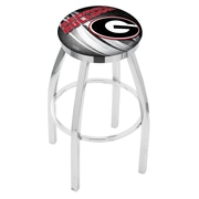 Holland Bar Stool NCAA 30'' Swivel Bar Stool w/ Cushion; Georgia Bulldogs