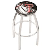 Holland Bar Stool NCAA 30 inch Swivel Bar Stool w/ Cushion; Texas Tech Red Raiders