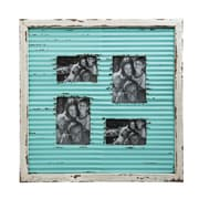 Laurel Foundry Modern Farmhouse Corrugate Metal w/ Distressed Wood Picture Frame