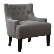 Infini Furnishings Solene Retro Club Chair; Gray