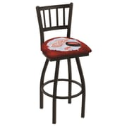 Holland Bar Stool NHL Swivel Bar Stool w/ Cushion; Detroit Red Wings