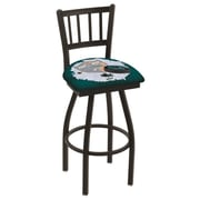 Holland Bar Stool NHL Swivel Bar Stool w/ Cushion; San Jose Sharks