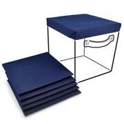 Sorbus Foldable Storage Basket Cover (Set of 6); Navy Blue