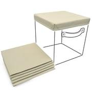 Sorbus Foldable Storage Basket Cover (Set of 6); Beige
