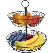 Sorbus Tiered Fruit Stand; Black
