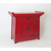 Wayborn Asian Oriental Cabinet; Red