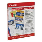 "Canon High Resolution Paper, 8 1/2"" x 11"", White, 100/Pack (1033A011)"
