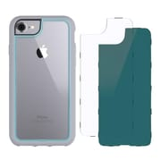 Griffin GB42897 TPU/Polycarbonate Survivor Adventure Case for iPhone 7, Chromium Blue/Clear