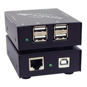 SmartAVI USB2-MINI-S 4-Port USB 2.0/1.1 Over Cat5e/6 Extender, Black