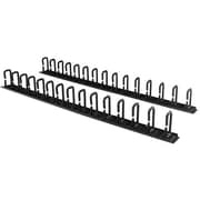 StarTech.com® Steel D-Ring Hooks Vertical Cable Organizer, 6', Black (CMVER40UD)