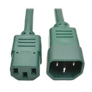 Tripp Lite 3' IEC-320-C14 to IEC-320-C13 Male/Female Standard Computer Power Extension Cord, Green (P004-003-AGN)