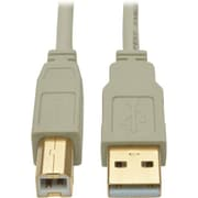 Tripp Lite U022 10' USB 2.0 Type-A to Type-B Male/Male Data Transfer Cable, Beige