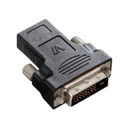 V7® V7E2DVIDMHDMIFADTR2N HDMI to DVI-D Female/Male Digital Audio/Video Adapter, Black