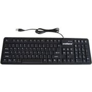 WetKeys® Wired USB Waterproof Keyboard, Black (KBWKFC106-BK)