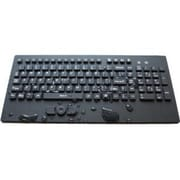 WetKeys® Wired USB Waterproof Industrial Keyboard with Track-Pointer, Black (KBWKRC102-BK)