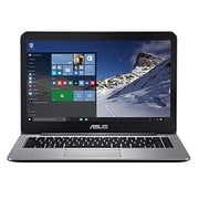 "ASUS® VivoBook E403SA-US21 14"" Laptop, LCD, Pentium N3700 1.6 GHz, 128GB, 4GB, Win 10 Home, Metallic Gray"