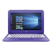 "HP® Stream N9E37UA 11.6"" Laptop, LCD, Celeron N3060 1.6 GHz, 32GB, 4GB, Win 10 Home, Violet Purple"