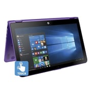 "HP® Pavilion x360 X0J68UA 15.6"" 2-in-1 Notebook, Touch LCD, Core i5-6200U 2.3 GHz, 1TB, 6GB, Win 10 Home, Purple/Silver"