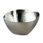 Heim Concept Elegance 8'' Stainless Steel Hammered Square Bowl