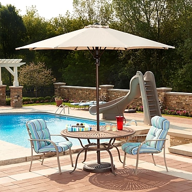 Blue Wave Catalina II 9' Octagonal Market Umbrella With Auto-Tilt, Champagne Olefin