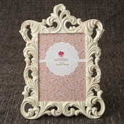 FashionCraft Metallic Baroque Picture Frame; Ivory/Gold