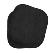 The Final Grab Inc. Memory Foam Dining Chair Cushion (Set of 2); Black
