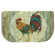 Bacova Guild Rooster Strut Memory Foam Slice Kitchen Mat; 1'8'' x 4' 7''