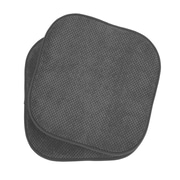 The Final Grab Inc. Memory Foam Dining Chair Cushion (Set of 2); Grey