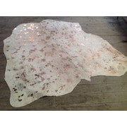 Rug Factory Plus Elegant Color Way of Rose Hand-Woven Gold/White Area Rug