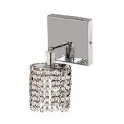 Elegant Lighting Mini 1-Light Square Canopy Round Wall Sconce; Crystal (Clear) / Elegant Cut